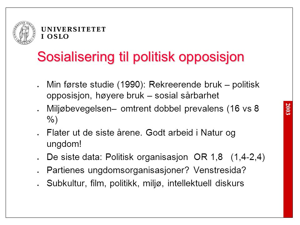 Sosialisering til politisk opposisjon