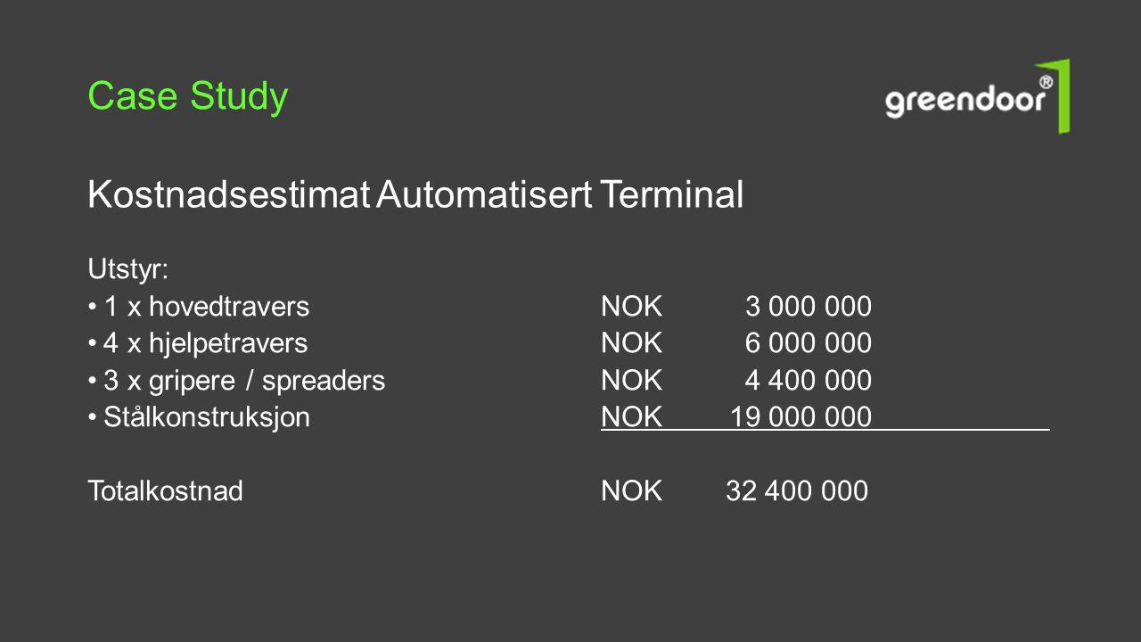 Case Study Kostnadsestimat Automatisert Terminal Utstyr: