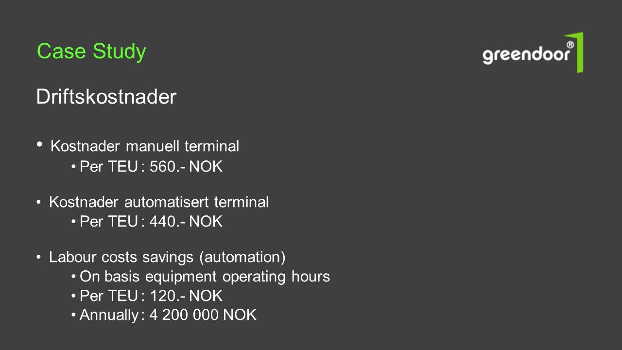 Case Study Driftskostnader Kostnader manuell terminal