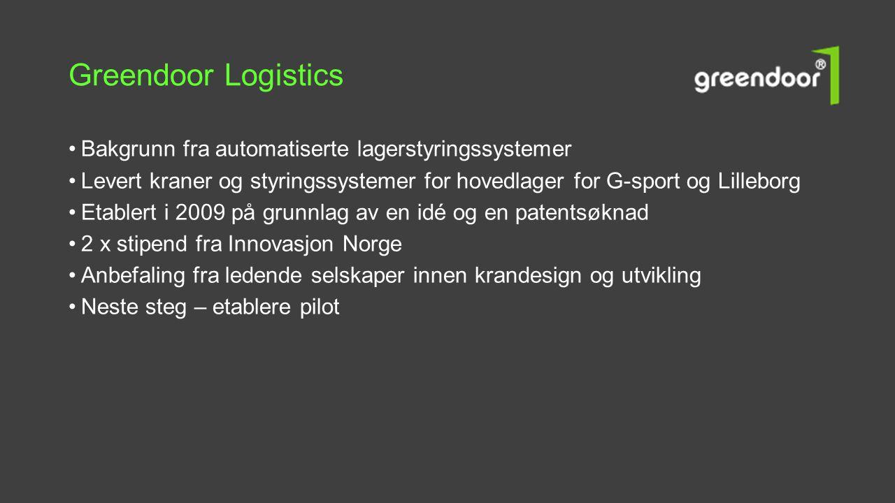 Greendoor Logistics Bakgrunn fra automatiserte lagerstyringssystemer