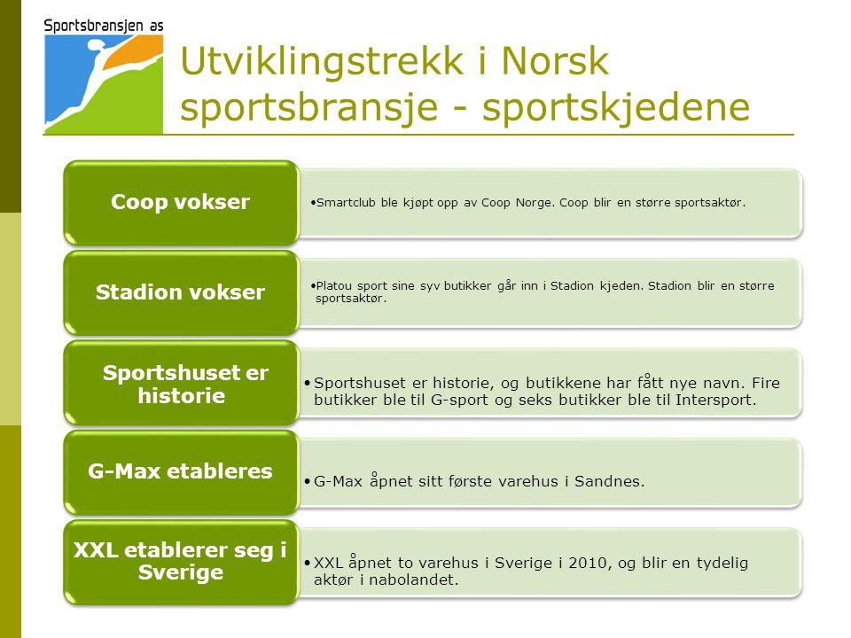 Utviklingstrekk i Norsk sportsbransje - sportskjedene