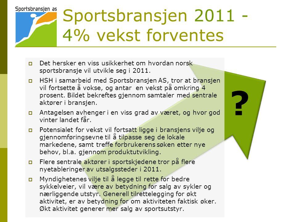 Sportsbransjen 2011 - 4% vekst forventes