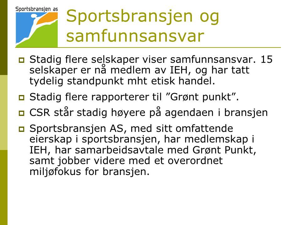 Sportsbransjen og samfunnsansvar