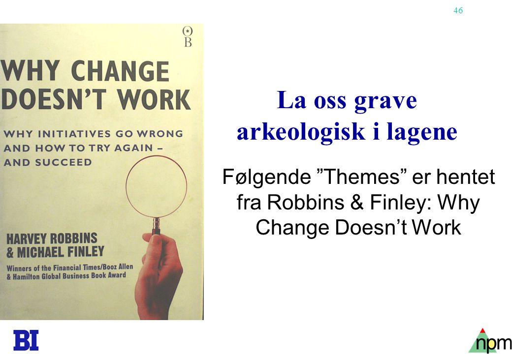 La oss grave arkeologisk i lagene