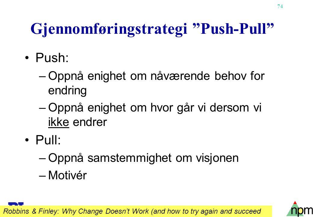Gjennomføringstrategi Push-Pull