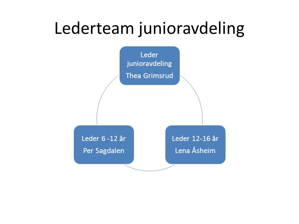 Lederteam junioravdeling
