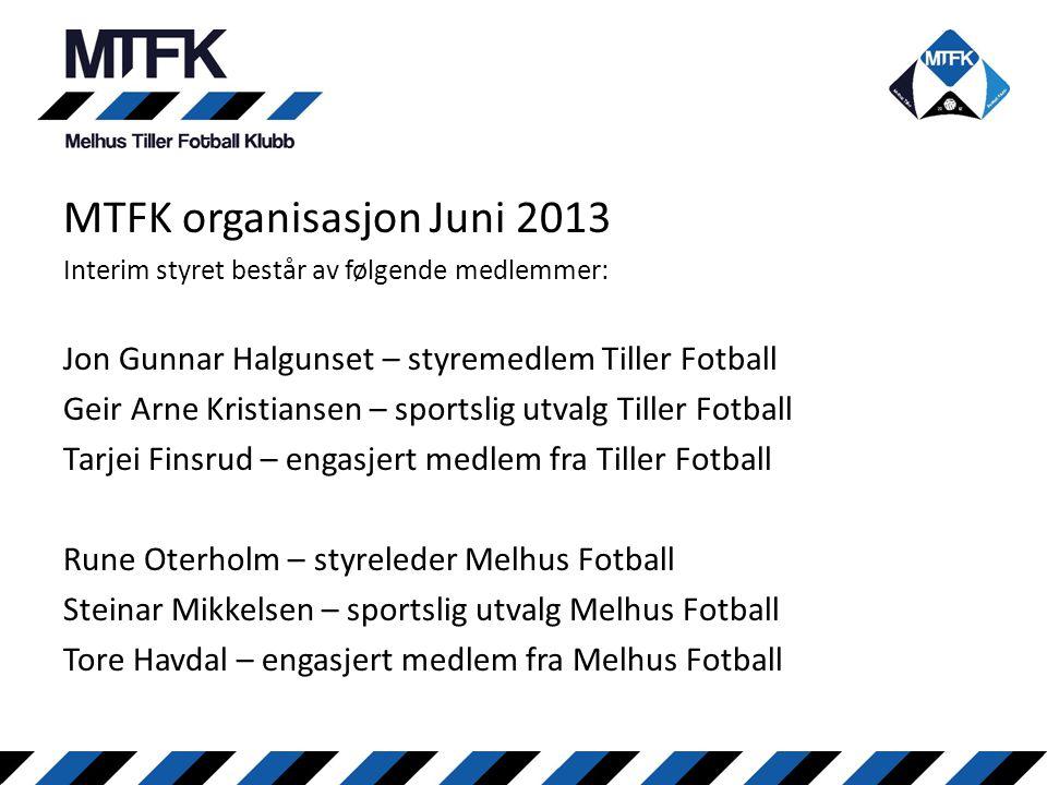MTFK organisasjon Juni 2013
