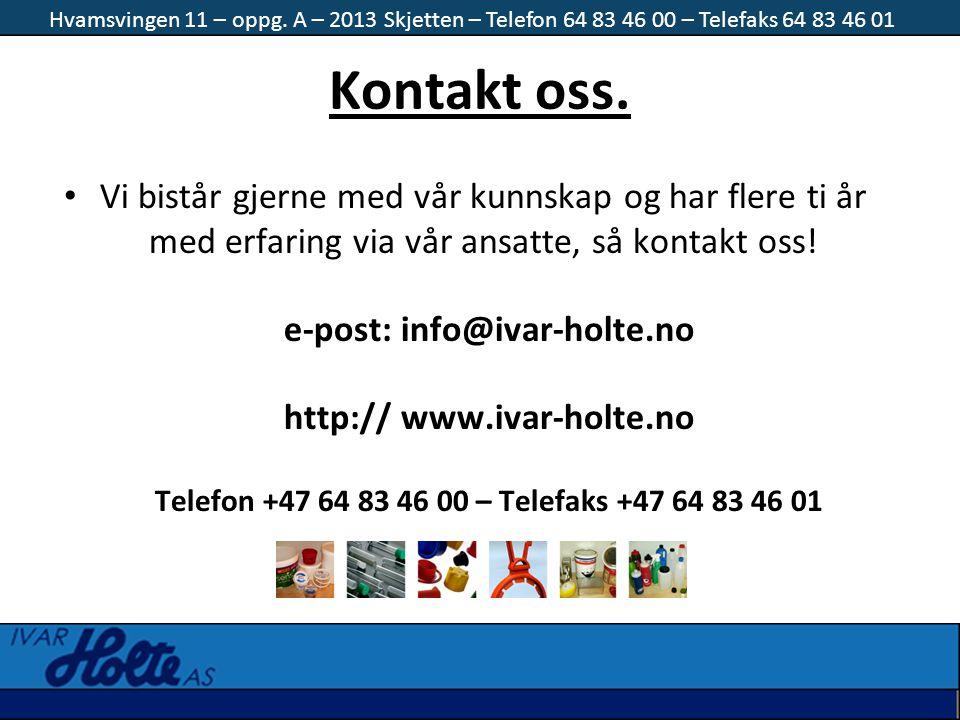 e-post: info@ivar-holte.no http:// www.ivar-holte.no