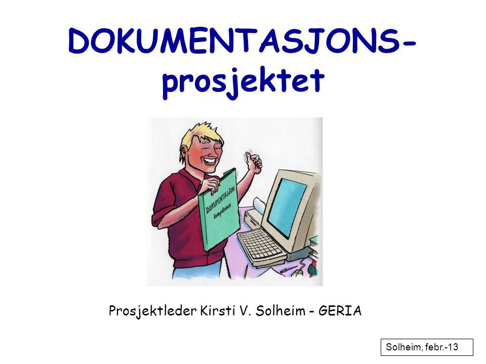 DOKUMENTASJONS- prosjektet