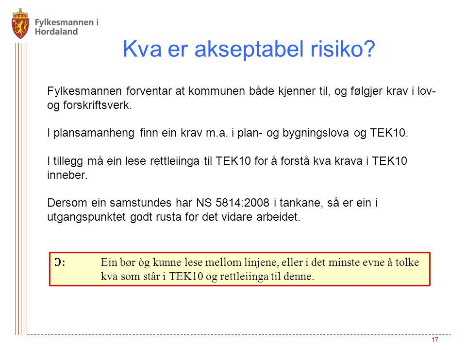 Kva er akseptabel risiko