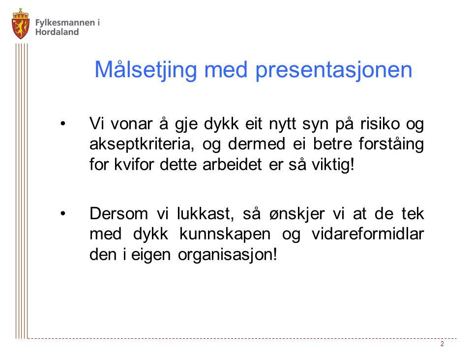 Målsetjing med presentasjonen