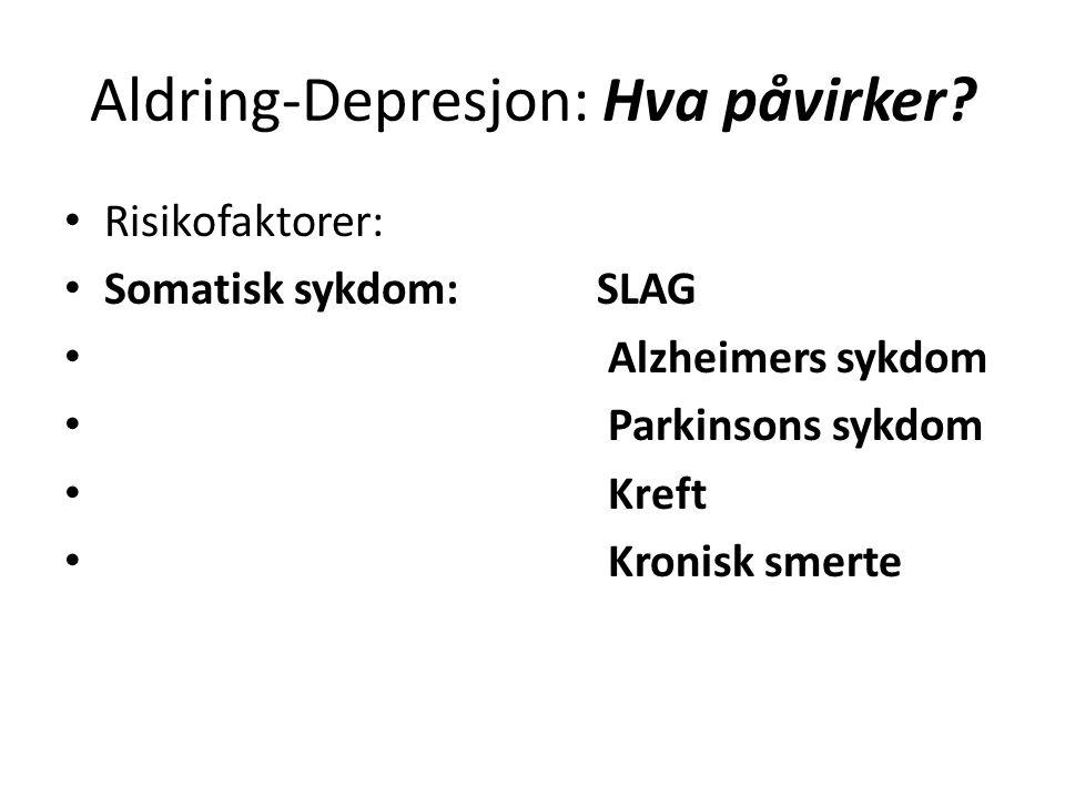 Aldring-Depresjon: Hva påvirker