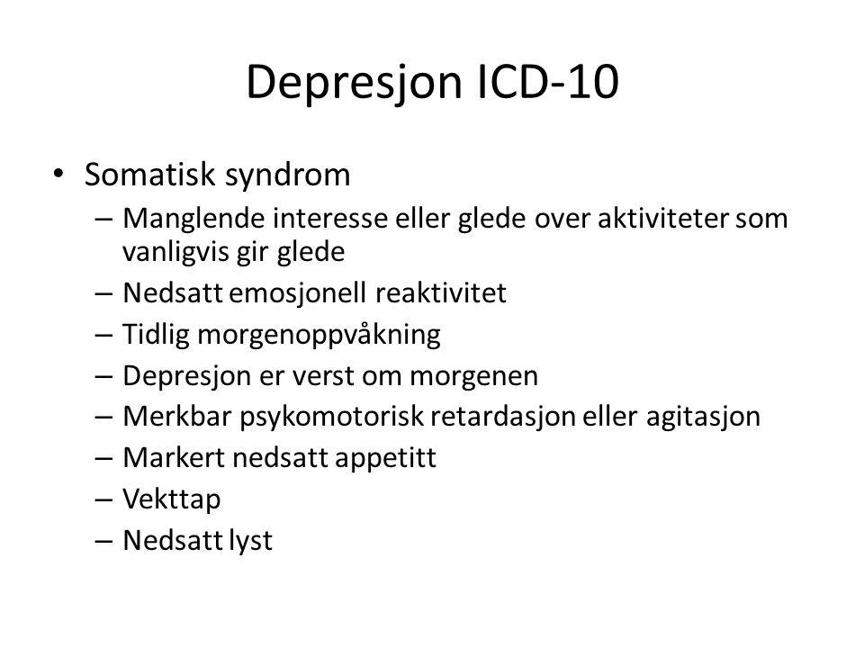 Depresjon ICD-10 Somatisk syndrom