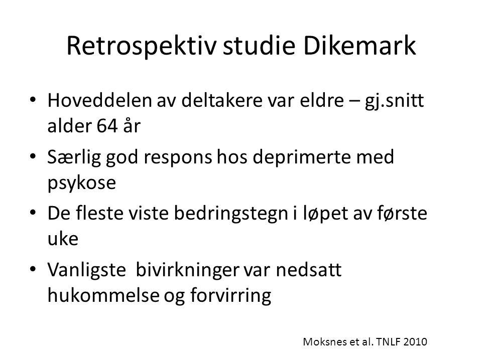 Retrospektiv studie Dikemark