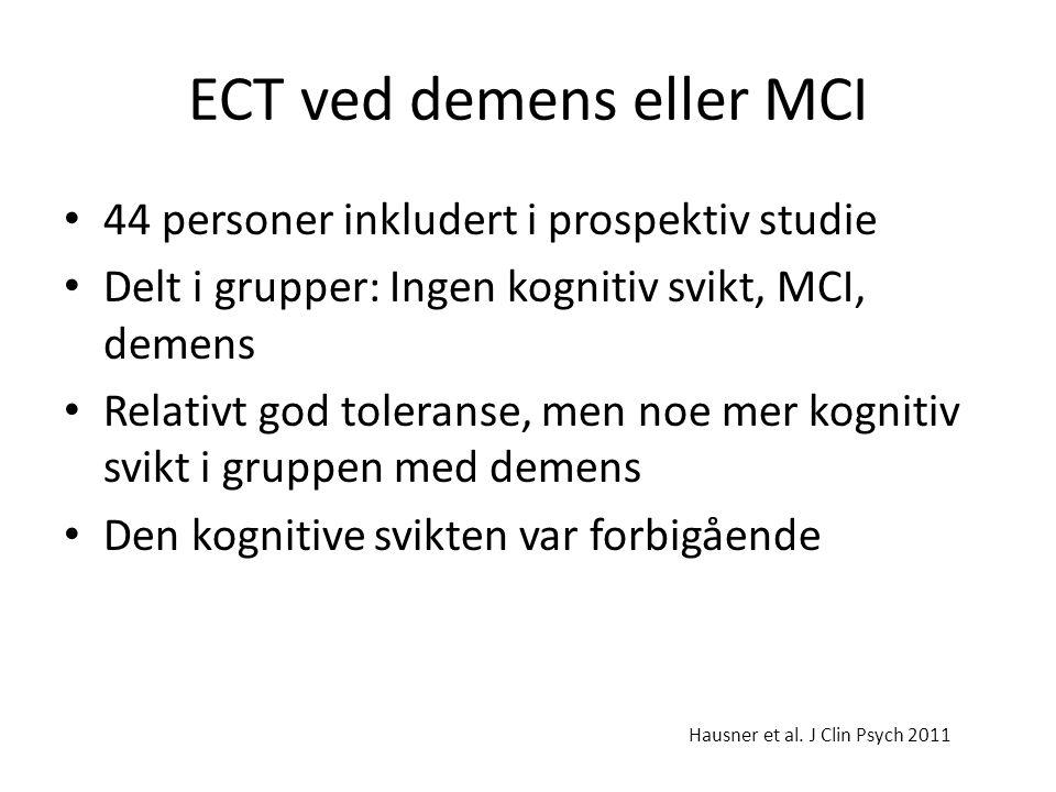 ECT ved demens eller MCI