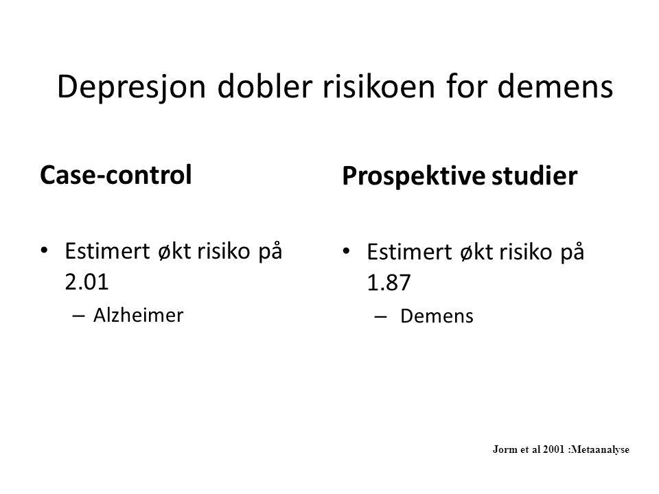 Depresjon dobler risikoen for demens