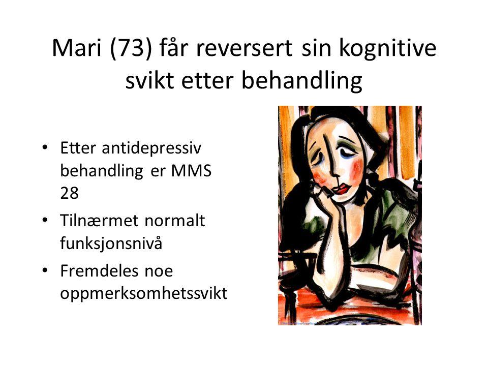 Mari (73) får reversert sin kognitive svikt etter behandling