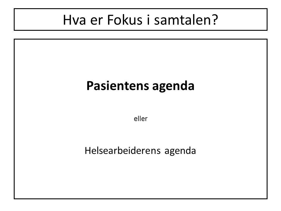 Helsearbeiderens agenda