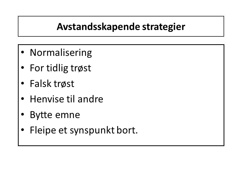 Avstandsskapende strategier
