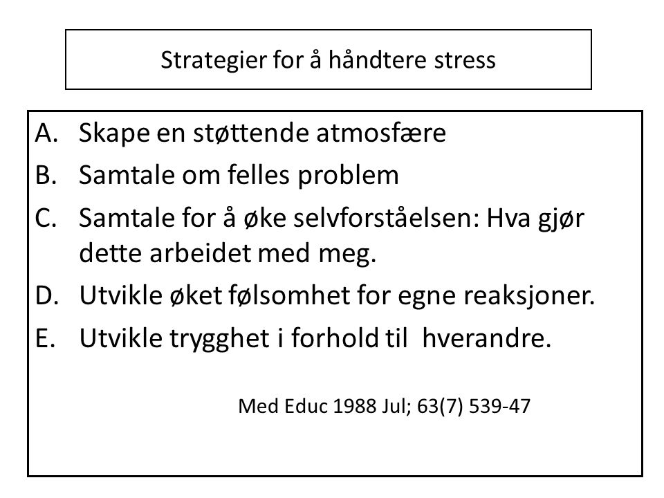 Strategier for å håndtere stress