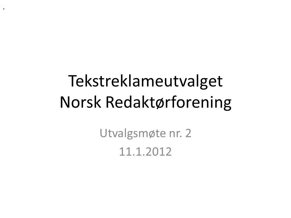 Tekstreklameutvalget Norsk Redaktørforening