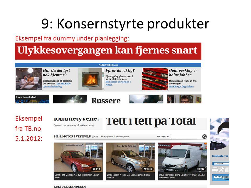 9: Konsernstyrte produkter