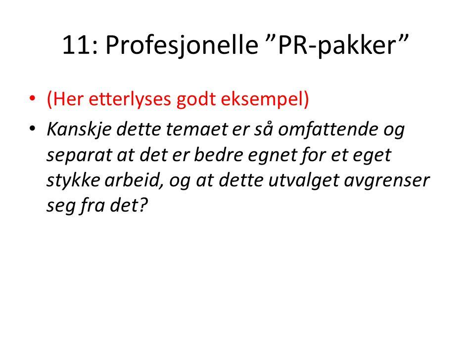 11: Profesjonelle PR-pakker