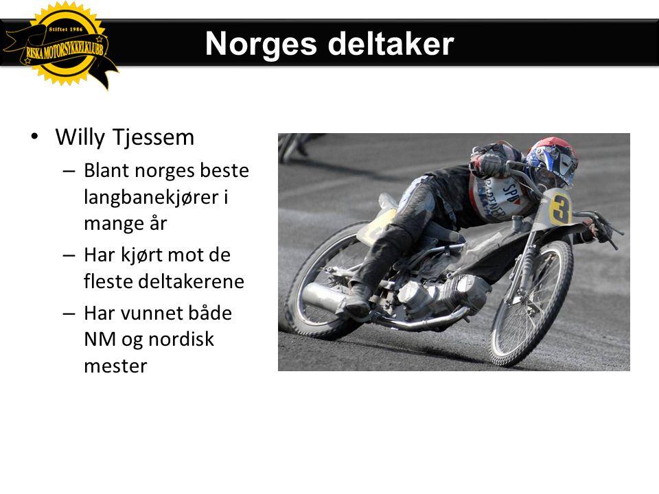 Norges deltaker Willy Tjessem