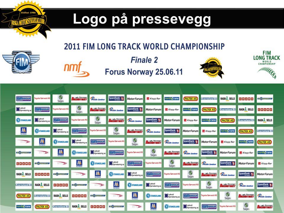 Logo på pressevegg Sponsorer