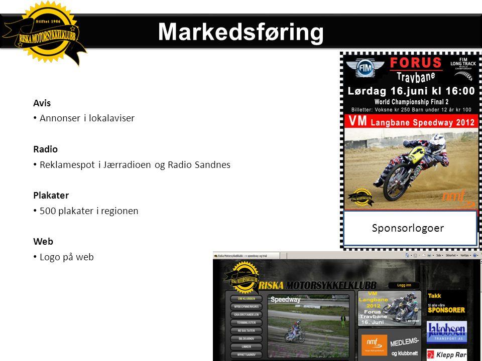 Markedsføring Sponsorlogoer Avis Annonser i lokalaviser Radio