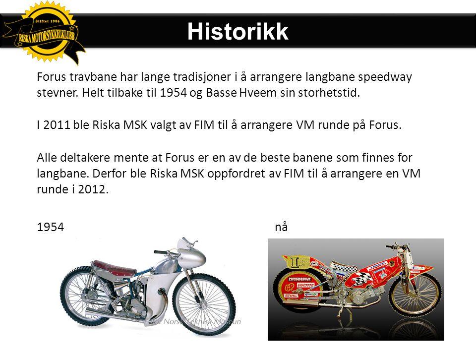 Historikk Forus travbane har lange tradisjoner i å arrangere langbane speedway stevner. Helt tilbake til 1954 og Basse Hveem sin storhetstid.