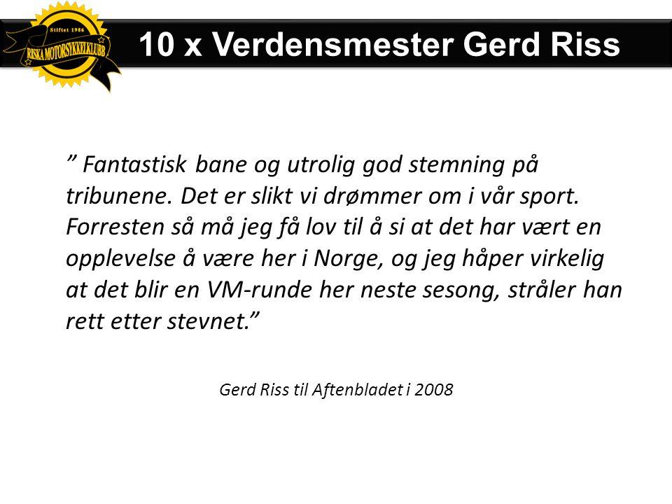 Gerd Riss til Aftenbladet i 2008