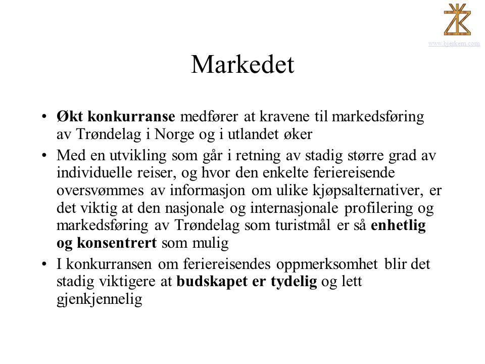 Markedet Økt konkurranse medfører at kravene til markedsføring av Trøndelag i Norge og i utlandet øker.