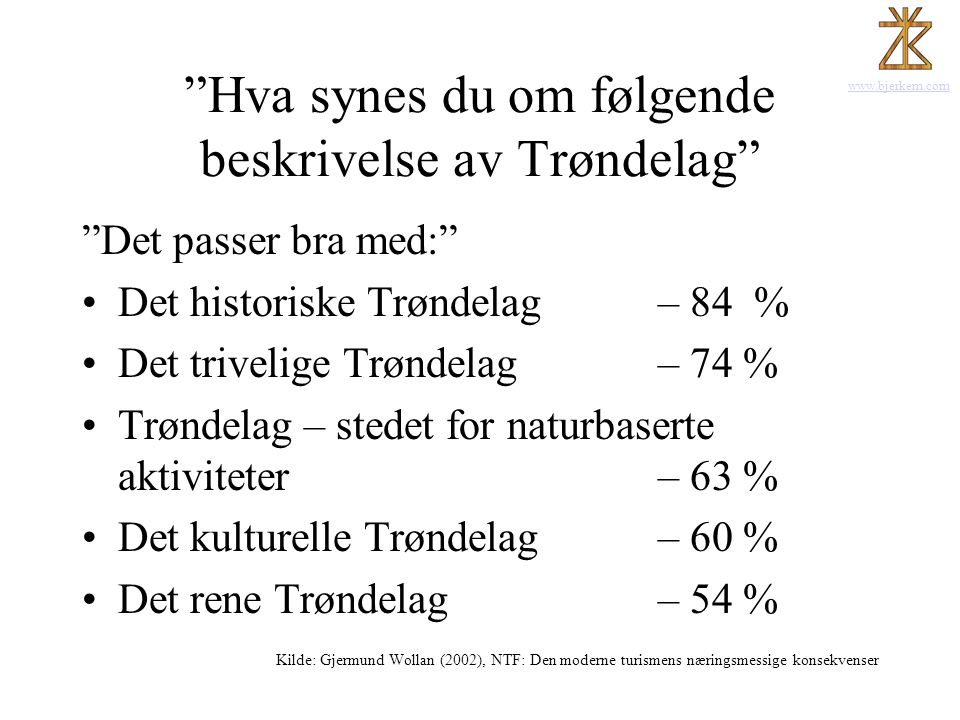 Hva synes du om følgende beskrivelse av Trøndelag