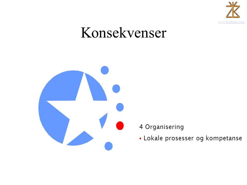 Konsekvenser Lokale prosesser og kompetanse 1 Kommunikasjonen