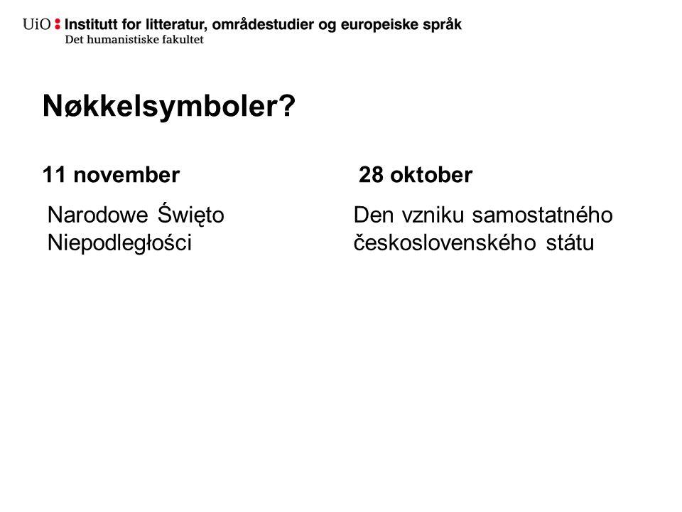 Nøkkelsymboler 11 november 28 oktober Narodowe Święto Niepodległości