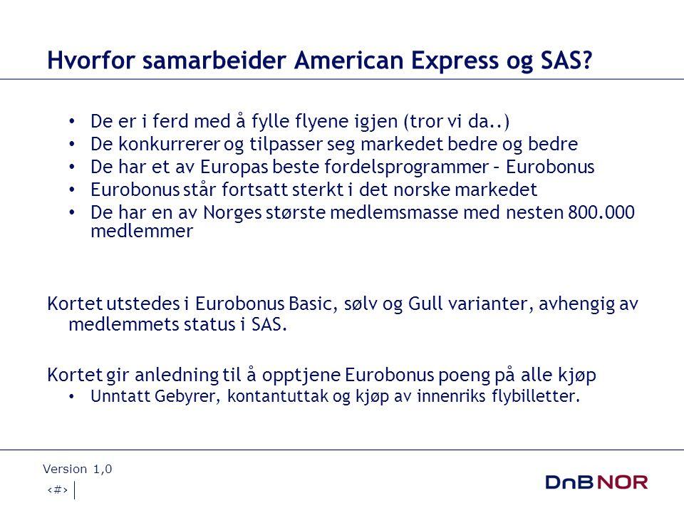 Hvorfor samarbeider American Express og SAS