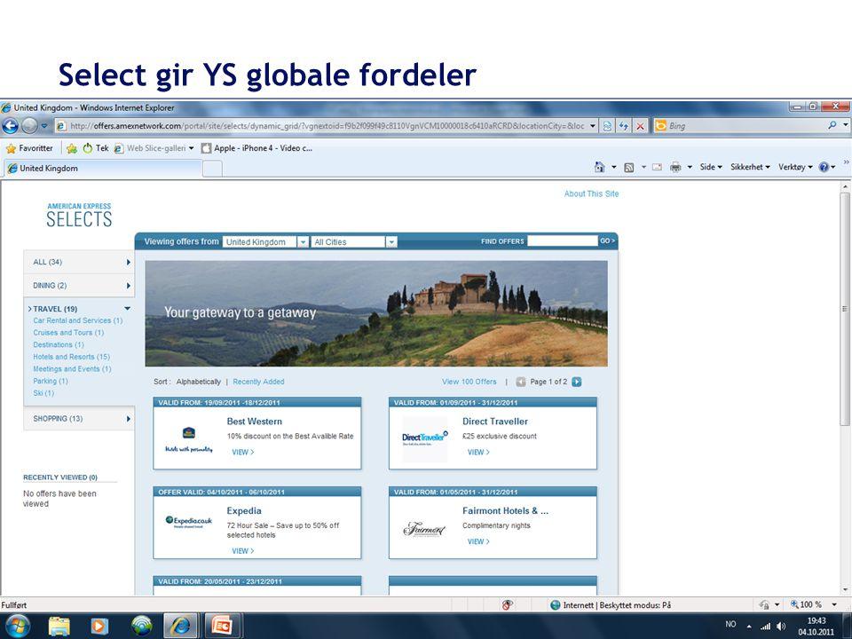 Select gir YS globale fordeler