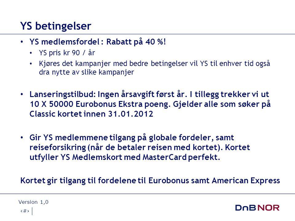 YS betingelser YS medlemsfordel : Rabatt på 40 %!