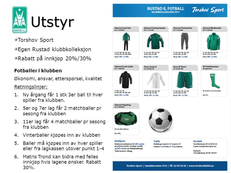 Utstyr Torshov Sport Egen Rustad klubbkolleksjon