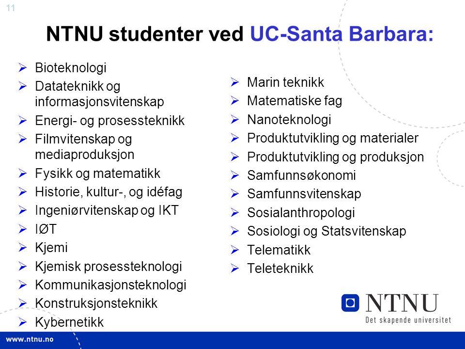 NTNU studenter ved UC-Santa Barbara:
