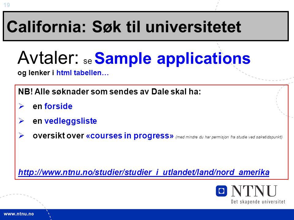 Avtaler: se Sample applications og lenker i html tabellen…