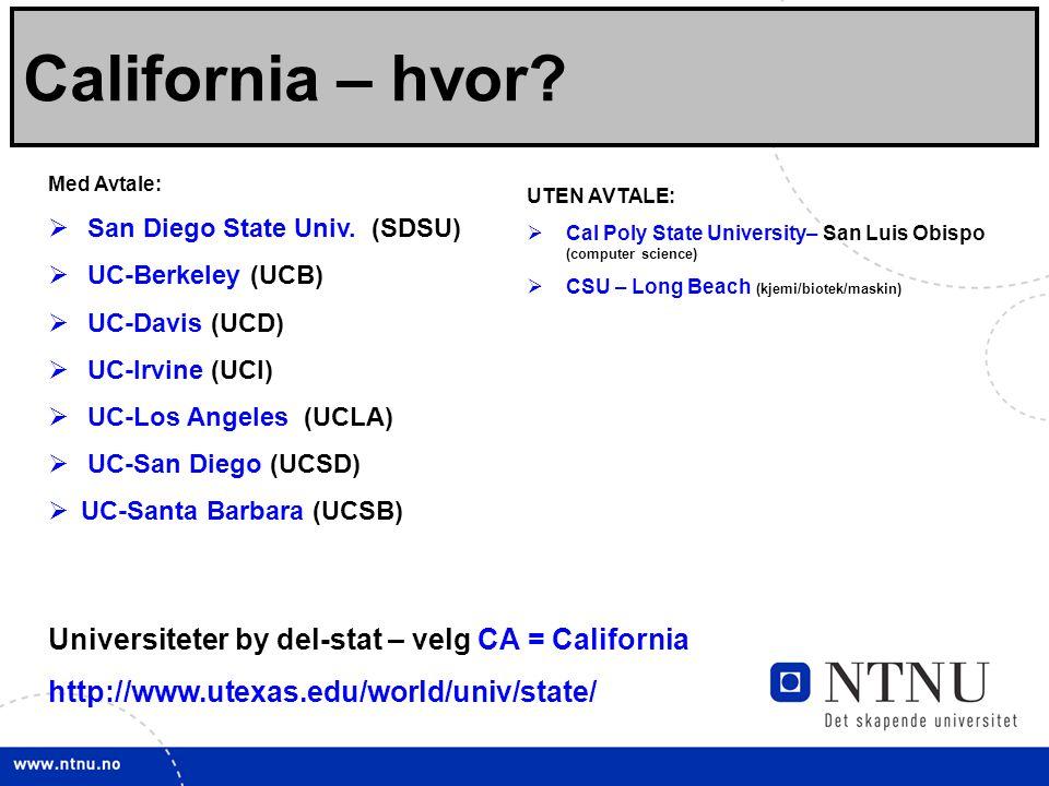 California – hvor Viktige linker