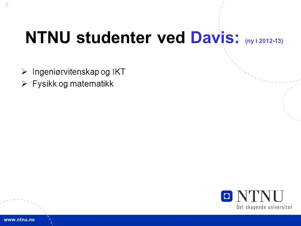 NTNU studenter ved Davis: (ny i 2012-13)