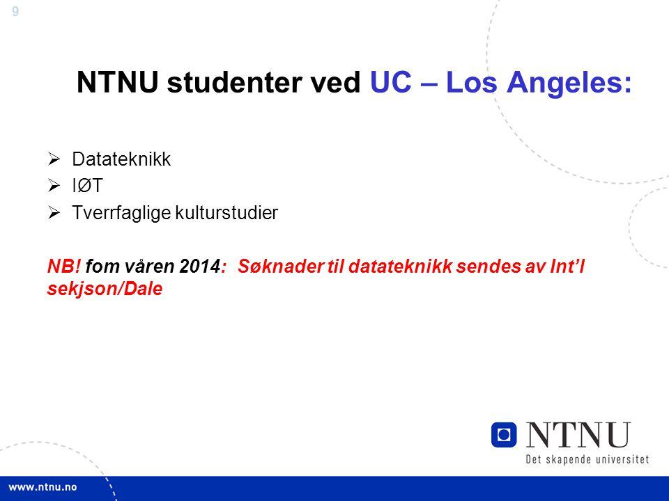 NTNU studenter ved UC – Los Angeles: