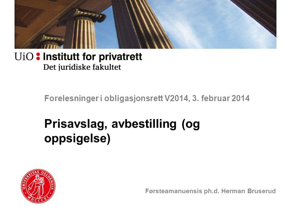 Forelesninger i obligasjonsrett V2014, 3. februar 2014