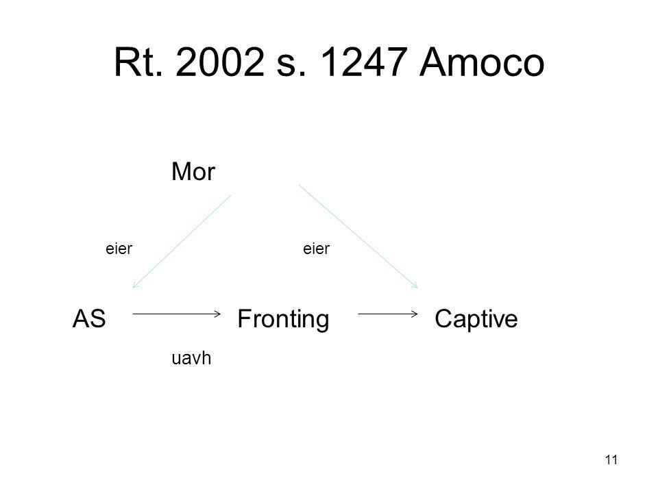 Rt. 2002 s. 1247 Amoco Mor eier eier AS Fronting Captive uavh