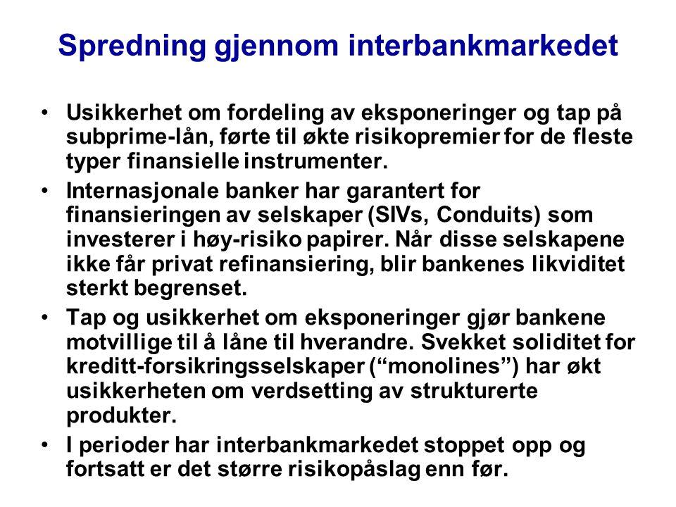 Spredning gjennom interbankmarkedet