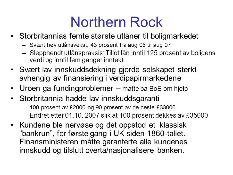 Northern Rock Storbritannias femte største utlåner til boligmarkedet