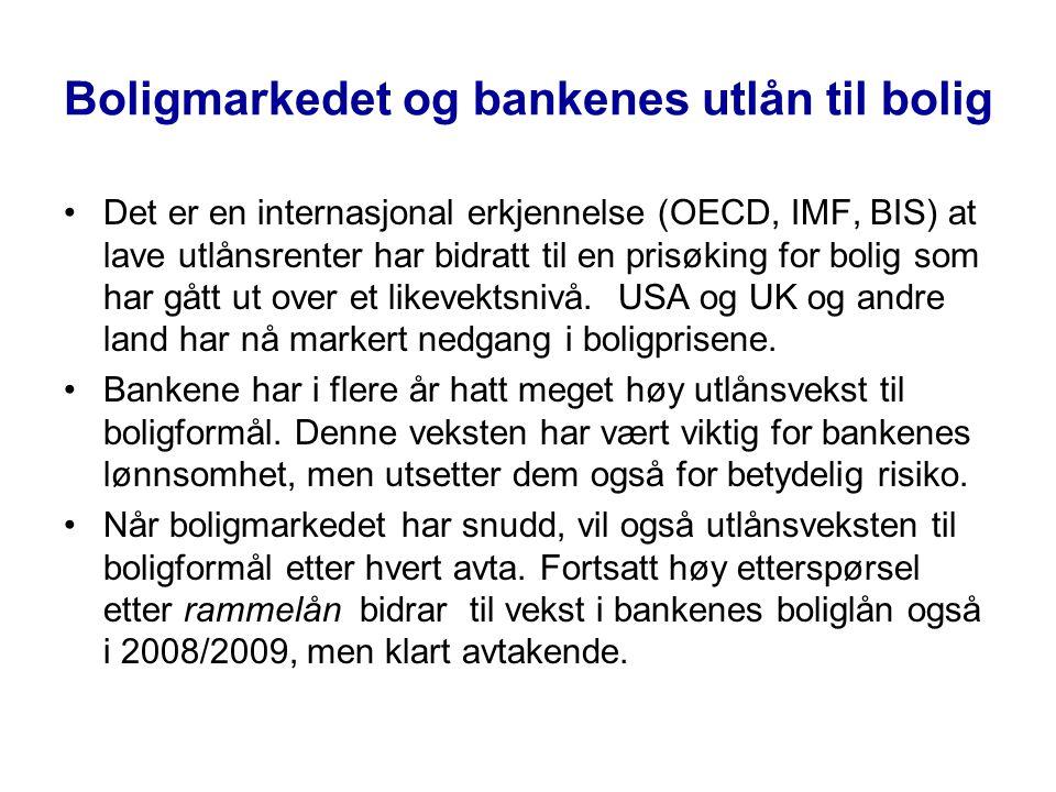 Boligmarkedet og bankenes utlån til bolig
